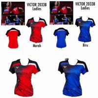 MURAH Baju Badminton Wanita Cewek Malaysia National Victor GO Import