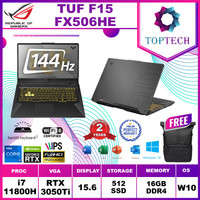 ASUS TUF FX506HE RTX3050Ti 4GB i7 11800H 16GB 512ssd 15.6FHD 144Hz OHS