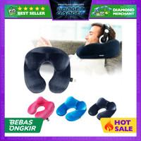 Bantal Leher U-Shape Inflatable Travel Neck Pillow
