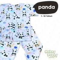 Setelan Baju Tidur Piyama Anak Tanpa Kerah Motif Panda