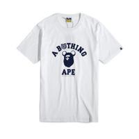 A Bathing Ape X Be@rbrick Medicom Toy College T-Shirt White