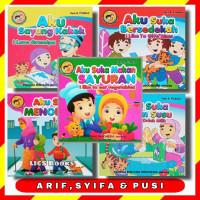 Buku Cerita Anak Arif, Syifa dan Pusi Lengkap Full Colour