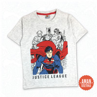 Kaos Anak Cowok Superman Justice League By Sophomore Kids - LITTLE S - 2T