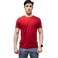STAND OUT Flawless Fit T-shirt Kaos Merah Maroon MENLIVING Men Living
