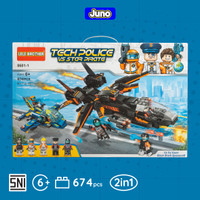 Mainan Bricks Tech Police vs Star Pirate Compatible Lego | Juno 8601-1