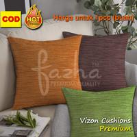 Sarung Bantal Sofa Kursi Tamu Motif Polos Hitam Orange Hijau 40x40