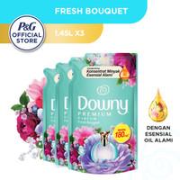 Downy Pelembut & Pewangi Pakaian Fresh Bouquet Refill 1.45L - Isi 3