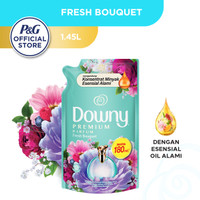 Downy Pelembut & Pewangi Pakaian Fresh Bouquet Refill 1.45L