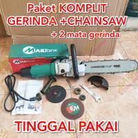 mesin gergaji kayu chainsaw mini mesin gerinda komplit chain saw