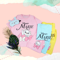 Setelan Celana Pendek Piyama Import BigSize Baju Tidur Jumbo Marie Cat