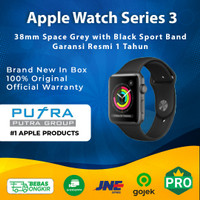 Apple Watch Series 3 GPS 38 mm Space Grey Alum with Black Sport Band