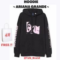 HOODIE H&M ARIANA GRANDE BLACK *FREE PAPER BAG H&M*