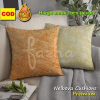 Cover Sarung Bantal Sofa Kursi Tamu Motif Polos Orange Kuning 40x40 1