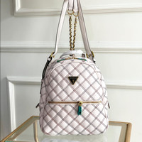 Tas Guess Ryan Cessily Quilted Tweed Backpack Bag - White