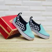Sepatu Anak / Vans Slip On / Premium / Sepatu Kids / Biru Muda / murah