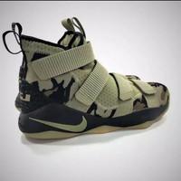 Sepatu Premium Safety Mirror 1 Nike Lebron James 11 Camo Green Perfect