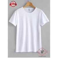 Kaos Polos PE O-Neck Putih / Kaos Polos Lengan Pendek / Kaos Pria - Putih, M