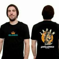 Glorio T-shirt Casual/Kaos Pria/T-shirt Premium] Japan Koi - Hitam, M
