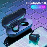 Wireless Earphone Bluetooth dengan Mikrofon Headset Olahraga Kontrol - Y30