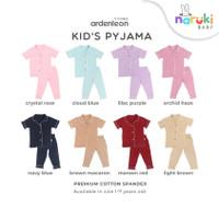 Ardenleon Kids Pyjama Baby Arden Leon Piyama Baju Tidur Anak Bayi - Maroon Red Lama, L