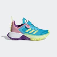 Sepatu Adidas Sport X Lego Velcro Kids Blue Pink Original