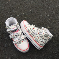 Sepatu Anak Converse Karakter Hello Kitty Boot Perekat - 26