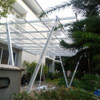 Kanopi(Canopi) Carport Atap Spandek Transparan, solarflat & Plafon PVC