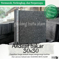 Batu Alam Andesit Bakar 30x30