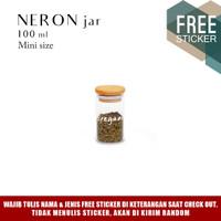 Grinn Living Neron Glass Jar 100 ml Toples Mini tutup Bambu Kayu