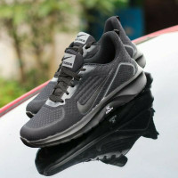 COD#sepatu hitam polos sekolah pria wanita terbaru terlaris - Hitam polos, 36