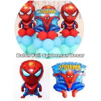 Balon Foil Karakter Spiderman Dekorasi pesta kartun Hero anak