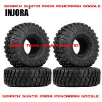 Injora 4Pcs 1.9 Inch 121mm ban rc/Soft Rubber Tyre 1/10 RC Crawler