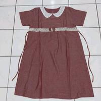 Stelan baju hamil/dress hamil/baju menyusui,DS08 - brown