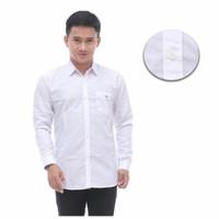 Baju Kemeja Lengan Panjang Pria putih Polos Slimfit