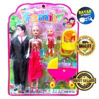 Mainan Anak Boneka Barbie Troli Set Fun Family SH 360