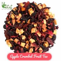 Apple Crumble Fruit Tea : Apple, Strawberry, Sea Buckthorns fruit Tea