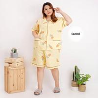 baju tidur jumbo bumil busui / baju tidur jumbo katun adem set CP HP - HP CARROT