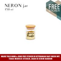 Grinn Living Neron Glass Jar 150 ml Toples Mini tutup Bambu Kayu