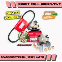 PAKET FULL KIRIAN/CVT BEAT/SCOOPY KARBU, SPACY KARBU GRATIS VANBELT