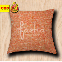 Cover Sarung Cushion Bantal Sofa Kursi Tamu Motif Polos Orange 40x40