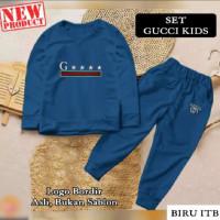 Baju Setelan Pakaian Olahraga Anak Perempuan GCI 20838 - Biru, S