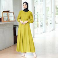 baju gamis terbaru abaya remaja kekinian modern busuiwanita dress sara - Lemon