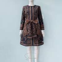 Baju Batik Tunik Sragenan Kanaya Tali Lepasan Dress wanita Premium