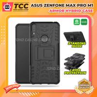Asus Zenfone Max Pro M1 ZB602KL Rugged Kickstand Hard Casing Back Case - Hitam