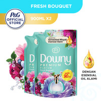 Downy Pelembut & Pewangi Pakaian Fresh Bouquet Refill 900ml - Isi 2