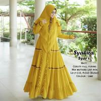baju gamis wanita terbaru jumbo syari set hijab gamis busui morza
