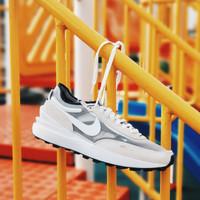 Sepatu Nike Waffle One - SUMMIT WHITE/WHITE-BLACK-ORANGE