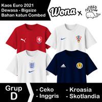 Kaos N&F Jersey Bola Eropa Grup D Untuk Dewasa-Bigsize Bahan Katun
