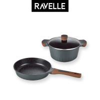 RAVELLE ROYALE Bundling 2 Pcs - Fry Pan 24Cm + Casserole 20Cm