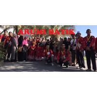 Baju Batik Muslim Gamis Longdress Seragam Tour Travel Wisata Umroh - sample kain